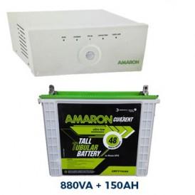 Amaron 880VA Sinewave Inverter UPS and Tall Tubular 150AH Battery Combo