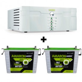 AMARON 1400 SINE WAVE UPS AND 2 PCS AMARON AAM-CR-CRTT150